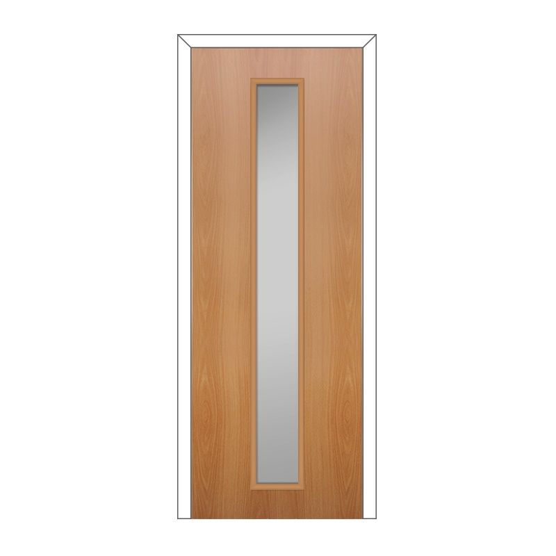 Полотно дверное Олови 600х2000 Миланский орех cтекло L2, б/ф, цена р. за шт.