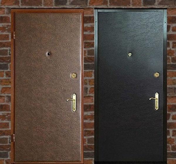 Стальные двери с отделкой винилискожей
